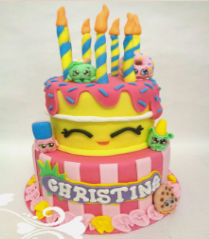 shopkins taart /shopkins cake